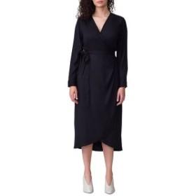 ユニバーサルスタンダード レディース ワンピース トップス Universal Standard Rivers Wrap Dress (Regular & Plus Size) Black