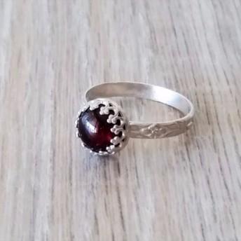 アンティーク調なガーネットの指輪 [size#14] -1月の誕生石-