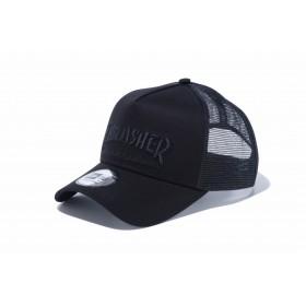 【ニューエラ公式】 9FORTY A-Frame トラッカー THRASHER スラッシャー ブラック × ブラック メンズ レディース 56.8 - 60.6cm キャップ 帽子 12082874 コラボ NEW ERA メッシュ