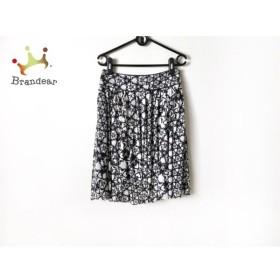 エポカ EPOCA スカート サイズ40 M レディース 美品 白×黒 花柄     スペシャル特価 20200118