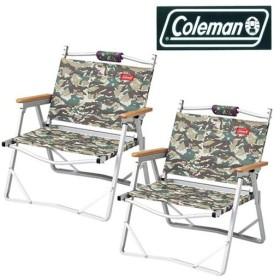 コールマン(Coleman) コンパクトフォールディングチェア カモフラージュ×2脚セット 2000010507×2/2000010522 アウトドア バーベキュー キャンプ イス