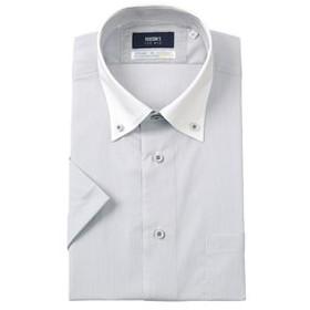【洋服の青山:トップス】【半袖】【COOLMAX】【クレリック】スタイリッシュワイシャツ