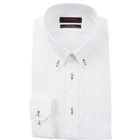 【洋服の青山:トップス】【長袖】【OEKO-TEX(R)】【ストレッチ】【ボタンダウン】スタイリッシュワイシャツ