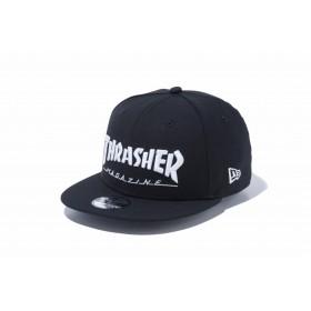 【ニューエラ公式】キッズ 9FIFTY THRASHER スラッシャー ブラック × スノーホワイト 男の子 女の子 52 - 55.8cm キャップ 帽子 11775333 コラボ NEW ERA