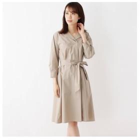 【インデックス/index】 【洗濯機洗いOK】オープンカラーシャツワンピース