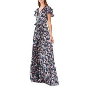 MLモニックルイラー レディース ワンピース トップス ML Monique Lhuillier Floral Evening Dress Navy Multi