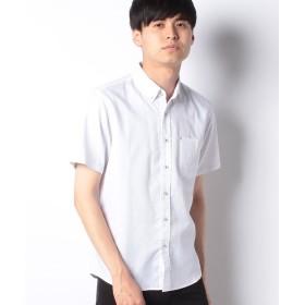 【50%OFF】 イッカ 麻混イージーケアボタンダウンシャツ メンズ オフホワイト LL 【ikka】 【セール開催中】