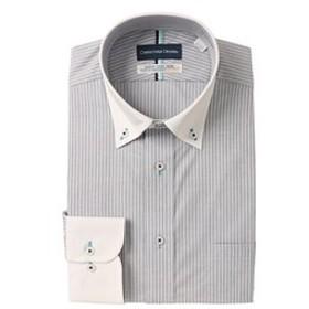 【洋服の青山:トップス】【長袖】【クレリック】【清涼】スタンダードワイシャツ(キング&トール)