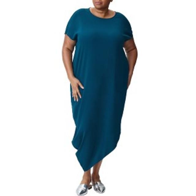 ユニバーサルスタンダード レディース ワンピース トップス Universal Standard Crepe Augusta Dress (Plus Size) Teal