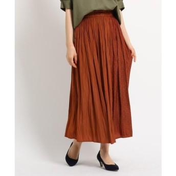 Dessin / デッサン 【洗える】【ウエストゴム】ライトパウダーサテンスカート