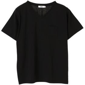 【オンワード】 koe(コエ) VネックTシャツ Black L レディース 【送料無料】