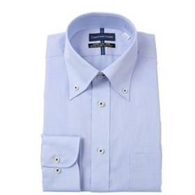 【洋服の青山:トップス】【長袖】【OEKO-TEX(R)】【ボタンダウン】スタンダードワイシャツ