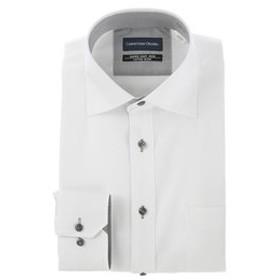 【洋服の青山:トップス】【長袖】【ワイドカラー】スタンダードワイシャツ