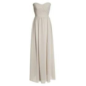 ソーシャルブライドメイド レディース ワンピース トップス Social Bridesmaids Strapless Georgette Gown Oyster
