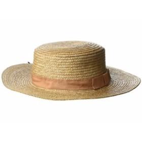 サンディエゴハット レディース 帽子 アクセサリー WSH1211 - Wheat Straw Boater with Grosgrain Trim Camel