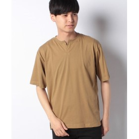 【50%OFF】 コエ ヘンリーネックTシャツ メンズ ベージュ L 【koe】 【セール開催中】