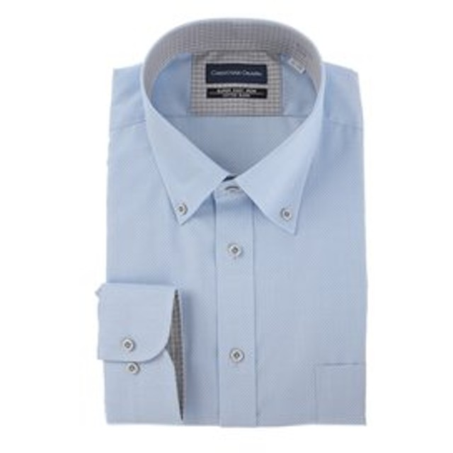 【洋服の青山:トップス】【長袖】【ボタンダウン】スタンダードワイシャツ(キング&トール)