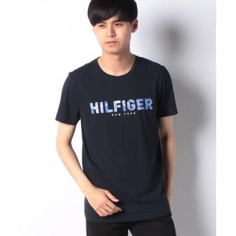 【30%OFF】 トミーヒルフィガー Tommy HilfigerロゴTシャツ メンズ ネイビー XL 【TOMMY HILFIGER】 【セール開催中】