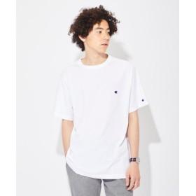 Champion ワンポイントビッグシルエットTシャツ メンズ ホワイト