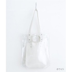 (merlot/メルロー)【plus】PVC×フェイクレザー/レディース ホワイト