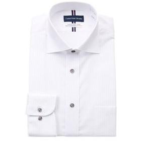【洋服の青山:トップス】【長袖】【ワイドカラー】【清涼】スタンダードワイシャツ