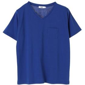 【オンワード】 koe(コエ) VネックTシャツ Blue M レディース 【送料無料】