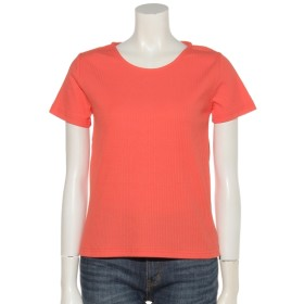 19%OFF clear (クリア) リブTシャツ オレンジB