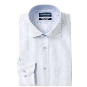 【洋服の青山:トップス】【長袖】【ワイドカラー】スタンダードワイシャツ(キング&トール)