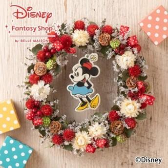 【ディズニーのフラワーギフト】ドライフラワー「ミニーマウス ハピネスリース」