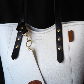 Creema限定『秋の袋』☆人気の再販☆大人のための本革贅沢ミニトートバッグ:バニラアイスクリーム