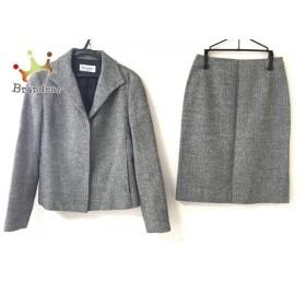 クミキョク 組曲 KUMIKYOKU スカートスーツ サイズ2 M レディース 美品 黒×白 SIS/ヘリンボーン 新着 20190611