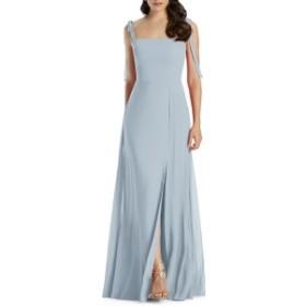ドレッシーコレクション レディース ワンピース トップス Dessy Collection Shoulder Tie Chiffon Evening Dress Mist