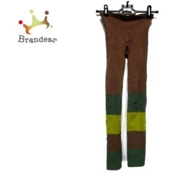 ホコモモラ パンツ サイズ40 XL レディース ダークブラウン×グリーン×イエローグリーン 値下げ 20190918