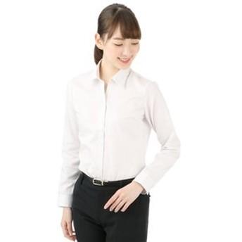 【洋服の青山:トップス】【長袖】【綿100%】【NON IRONMAX】【スキッパーカラー】ブラウス