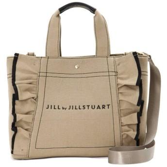 【公式/JILL by JILLSTUART】フリルキャンバストートバッグ/女性/キャンバスバッグ/カーキ/サイズ:FR/