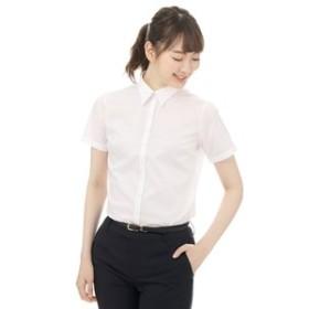 【洋服の青山:トップス】【半袖】【レギュラーカラー】ブラウス