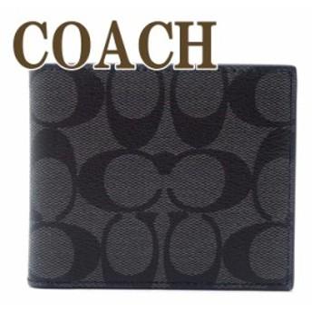 コーチ COACH メンズ 二つ折り財布 カードケース シグネチャー レザー 66551QBMI5 ブランド 人気