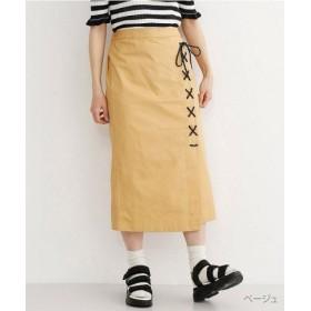 (merlot/メルロー)ロープスピンドルラップスカート/レディース ベージュ