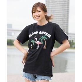 シルバーバレット CavariAサガラ刺繍半袖Tシャツ メンズ ブラック系2 46(L) 【SILVER BULLET】