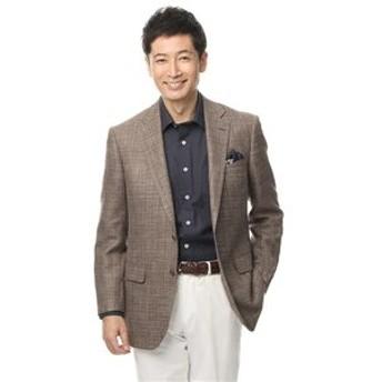 【洋服の青山:ジャケット】【プレミアム】【伊・イートーマス】【ウール・シルク・リネン混】スタンダードジャケット