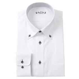 【洋服の青山:トップス】【長袖】【ボタンダウン】スタンダードワイシャツ