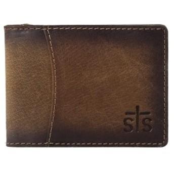 エスティエスランチウェア メンズ 財布 アクセサリー The Foreman Hidden Money Clip Wallet Brown