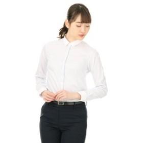【洋服の青山:トップス】【長袖】【SPARKLESS AIRY FABRIC】【レギュラーカラー】クレリックブラウス
