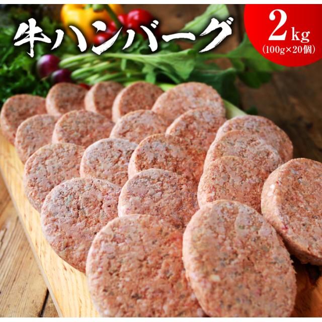 ジューシー牛ハンバーグ2kg(都農町加工品) (100g×4個×5袋)