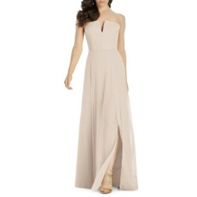 ドレッシーコレクション レディース ワンピース トップス Dessy Collection Strapless Chiffon Evening Dress Cameo