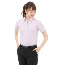【洋服の青山:トップス】【半袖】【スキッパーカラー】ブラウス