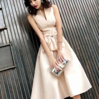ワンピースドレス パーティードレス 大きいサイズ イブニングドレス 花嫁 お呼ばれ 優雅 ワンピース 二次会 マキシ丈 ノースリーブ 発表
