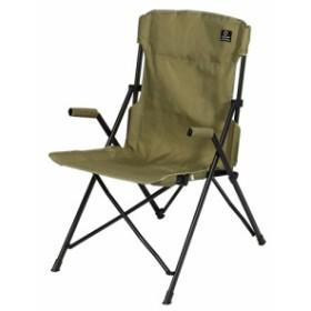 クイックキャンプ (QUICKCAMP) ハイバックチェア カーキ QC-HFC アウトドア用 軽量 折りたたみ チェア 椅子 イス 集束式 コンパクト