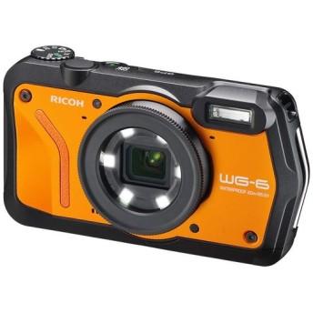 RICOH 防水デジタルカメラ WG-6 オレンジ 防水20m 耐ショック2.1m 耐寒-10度 耐荷重100kg