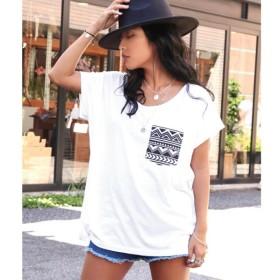 [マルイ]【セール】柄ポケットTシャツ/アナップ(ANAP)